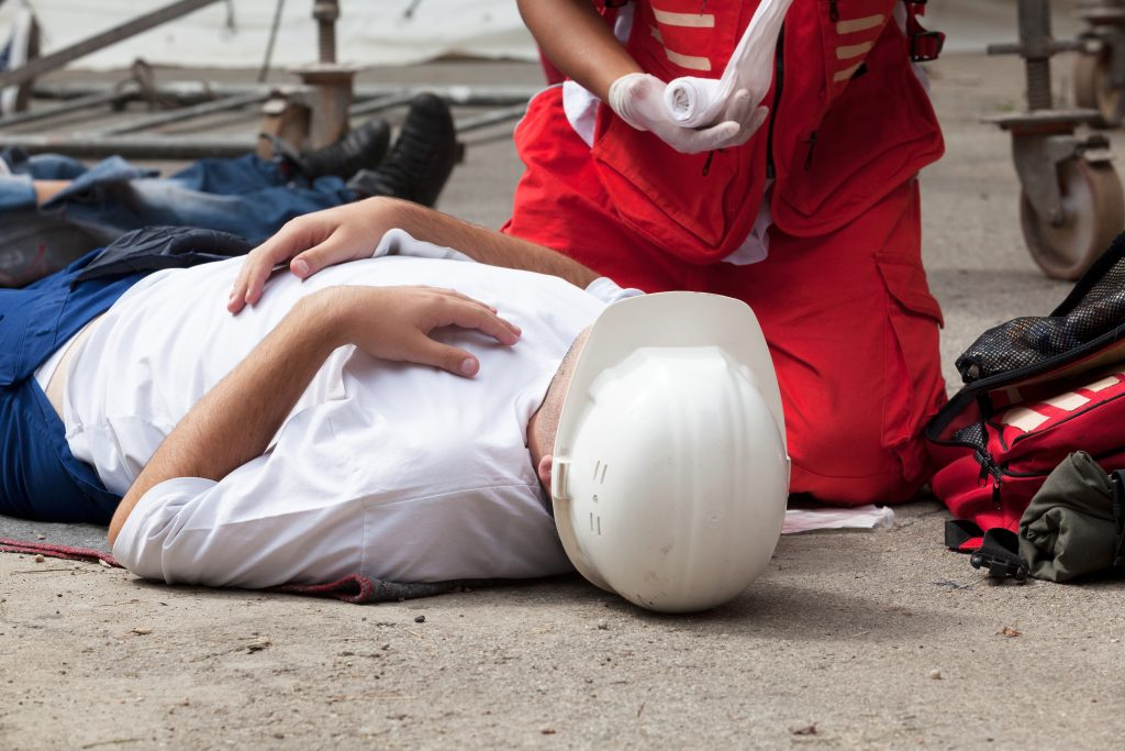 Image of a work accident