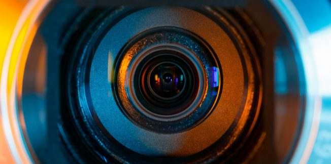 Video Camera Lens Closeup