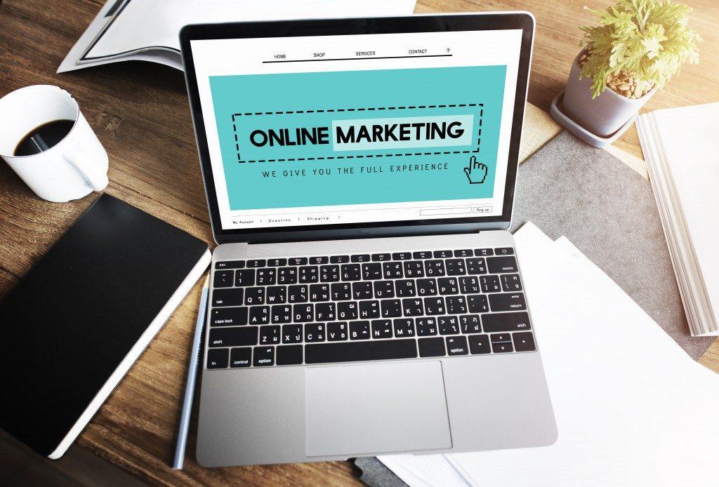 online marketing homepage website digital concept