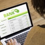 banking online concept: bank sofware on a laptop screen