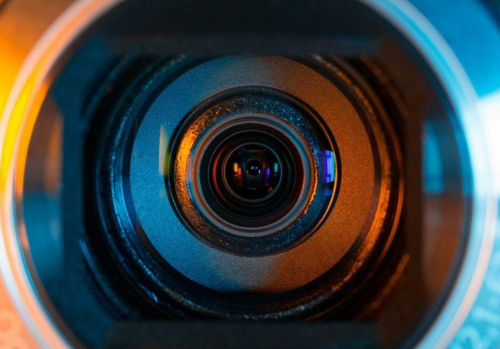 Video Camera Lens Closeup