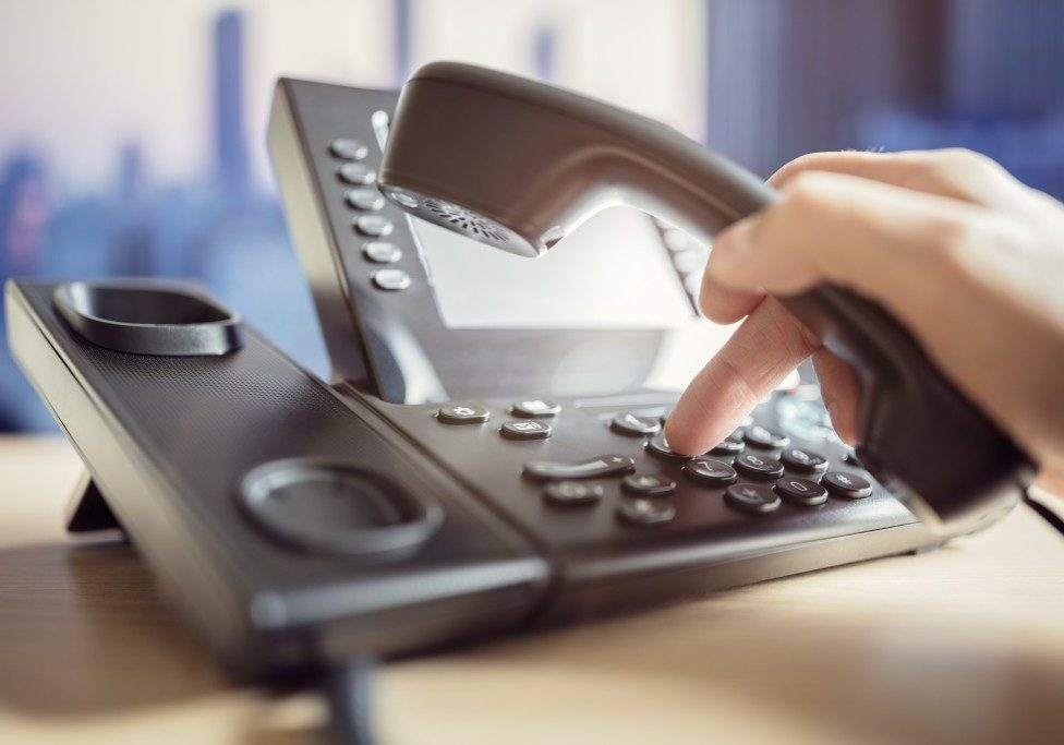 dialing a number on a business phone